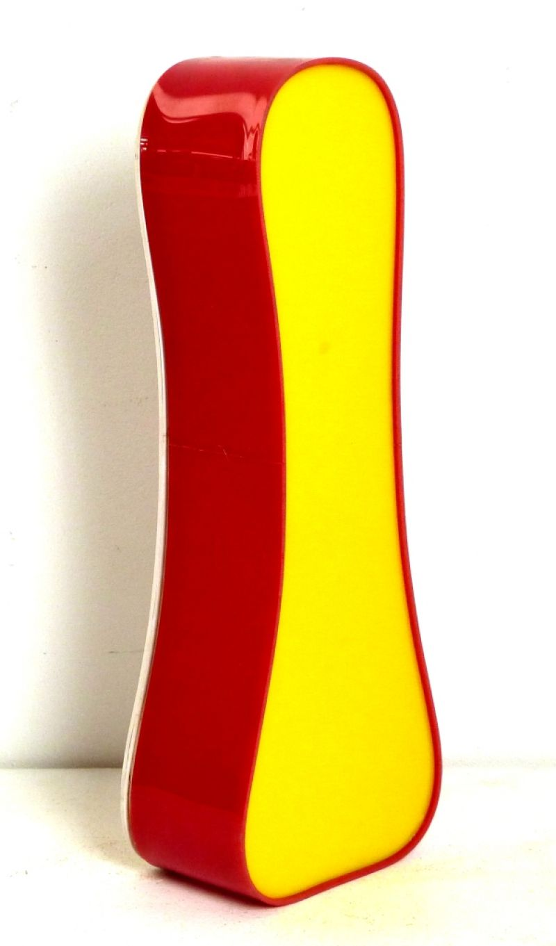 LETTERA  (I) RED-YELL-OVAL PLEXIGLASS