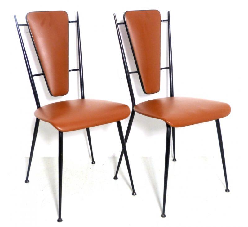 coppia sedie design anni 50 vintage waimea modernariato