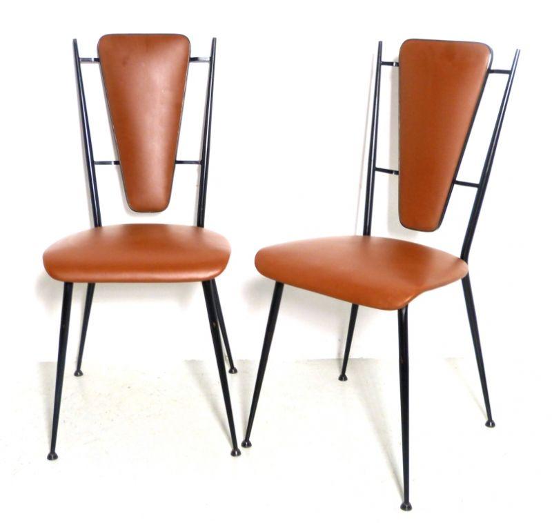 Coppia sedie design anni 50 vintage waimea modernariato for Sedie design anni 20