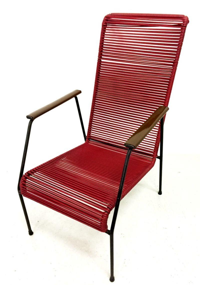Poltrona metallo vintage anni 60 armchair waimea design for Poltrona design ebay