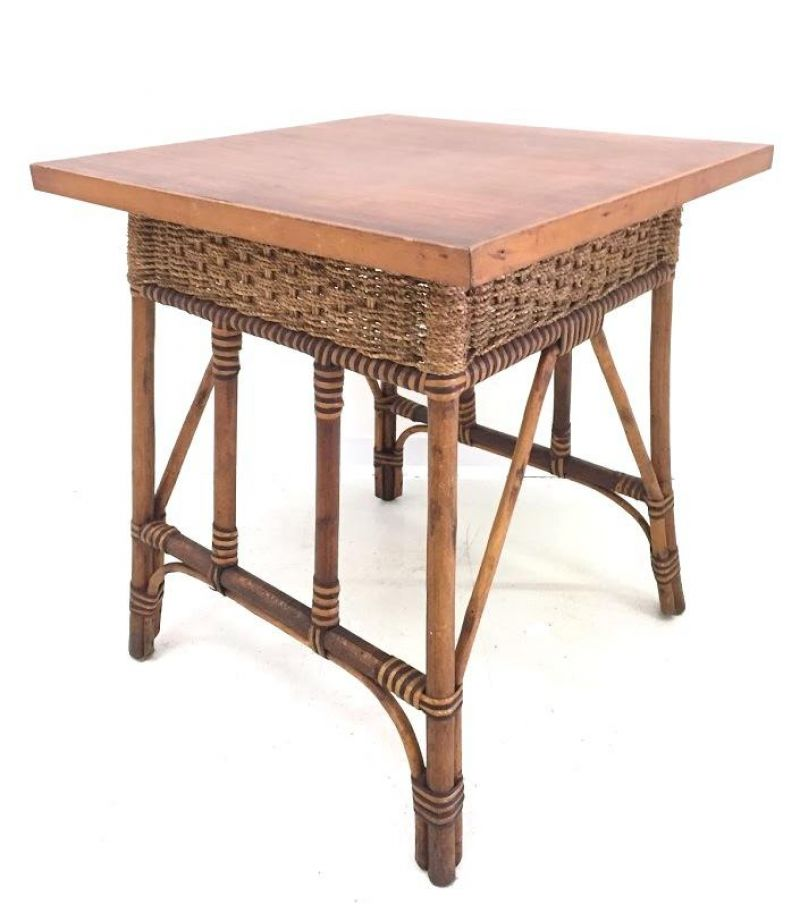 Tavolino in Vimini Anni 50