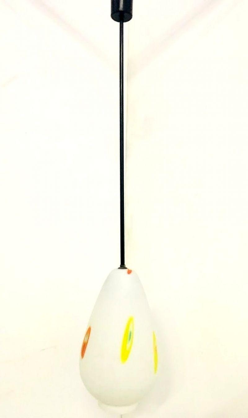 Lampadario da soffitto in Opalino Colorato -Anni 60 ( I )