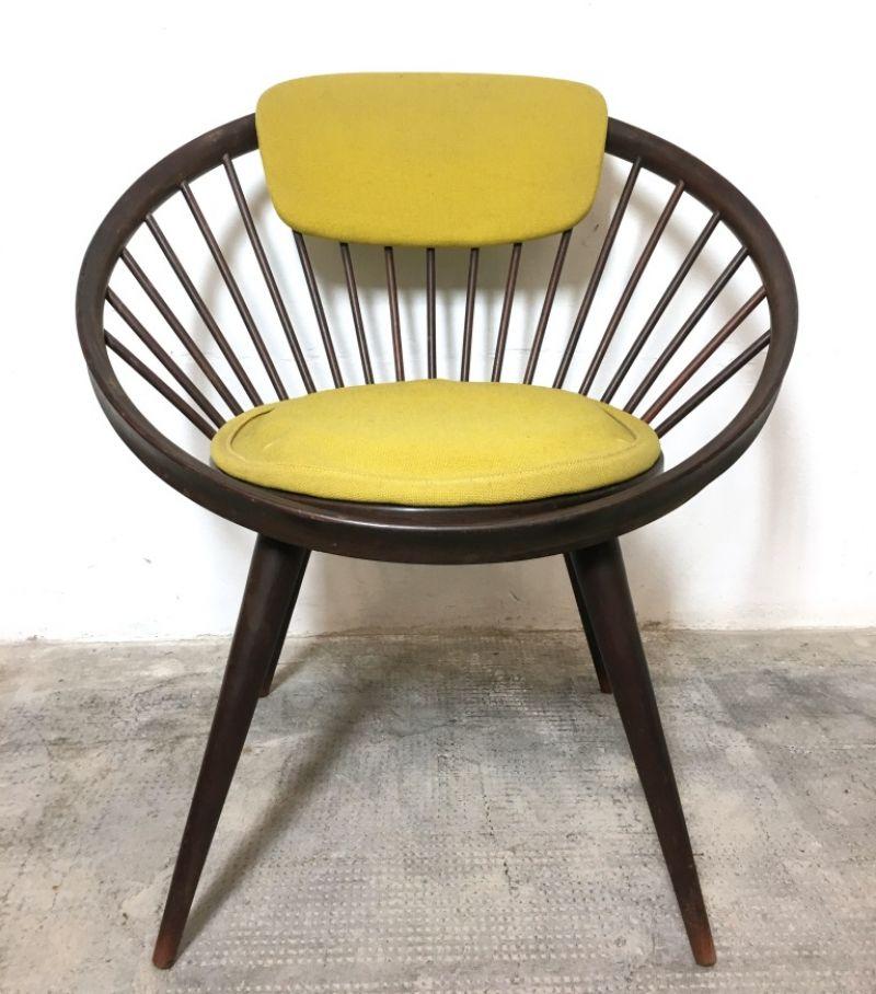 Poltrona Circle Yellow design Yngve Ekström 1960