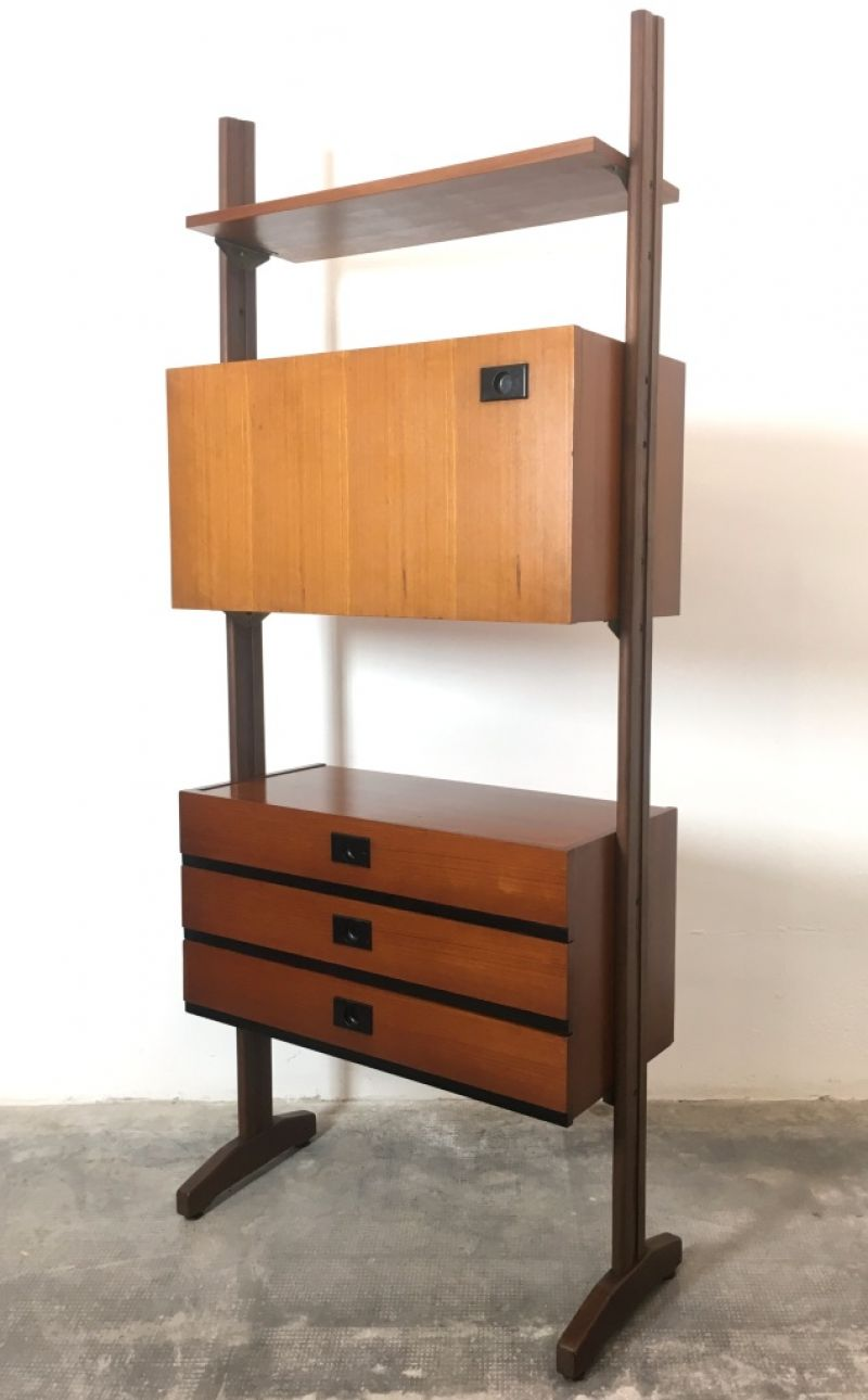 Libreria 1 Campata Anni 60 - Made in italy -