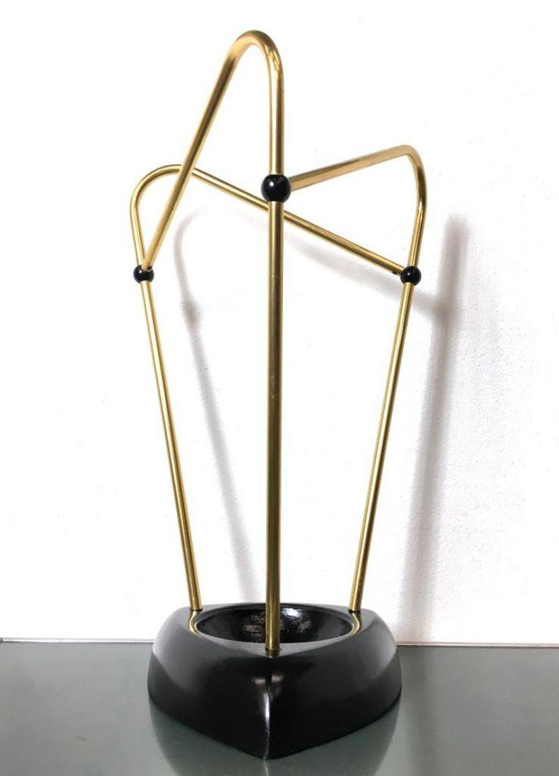Porta Ombrelli in Ottone Vintage Anni 60 - Made In Italy -
